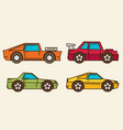 set of cartoon cars flat vector image vector image