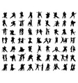 silhouettes dance players vector image