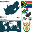 South Africa map world vector image vector image