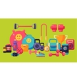Sports And Fitness Equipment Collection vector image vector image