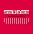 square shape letters linear font vector image vector image