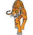tiger logo mascot vector image vector image