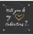 Valentines elegant card vector image