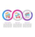 vegetarian menu infographic template business vector image