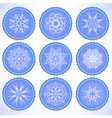 Winter Snow Labels vector image vector image