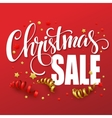 Christmas sale design template vector image