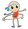 A sketch of a child playing hula hoop vector image vector image