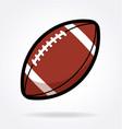 american football gridiron icon vector image