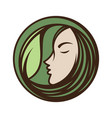 best creative colorful woman face vector image