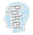 best online poker text background wordcloud vector image vector image