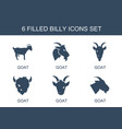 billy icons vector image vector image