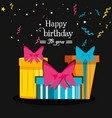 birthday set of gift box vector image vector image