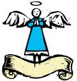 Blue Angel vector image