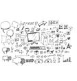 Business doodles sketch vector image vector image