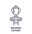 business victory line icon concept business vector image vector image