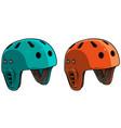 cartoon plastic skateboard protective helmet vector image vector image