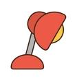 cartoon red lamp desk bulb light vector image vector image