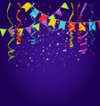 celebration purple background vector image vector image