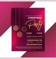 christmas party invitation template design vector image vector image