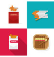 cigaret pack carton box with cigarettes and luxury vector image