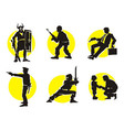Cinema Silhouettes Icons knight vector image