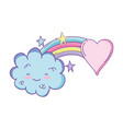 cloud and rainbow cute cartoon vector image vector image