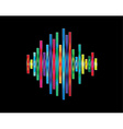 Colorful waveform vector image vector image