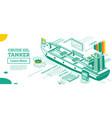 crude oil tanker isometric tanker commercial vector image vector image