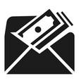 envelope bribery money icon simple style vector image