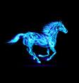 Fair Horse Run2 02 vector image vector image