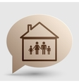 Family sign Brown gradient icon on vector image vector image