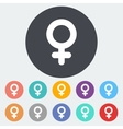 Female gender sign vector image vector image