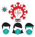 fight coronavirus vector image