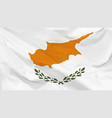 flag cyprus vector image vector image