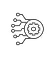 gear with circuit board artificial intelligence vector image