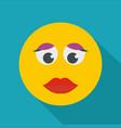 girl smile icon flat vector image