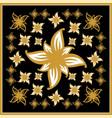 gold flower vintage vector image vector image