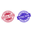 grunge scratched natural water stamp seals vector image vector image