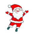 hand drawn cute santa claus vector image