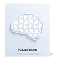 human brain composed a puzzle vector image vector image