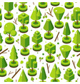 isometric bright tree set in seamless vector image