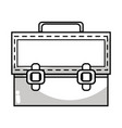 line elegant briefcase to save important document vector image vector image