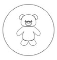little bear black icon in circle isolated vector image vector image
