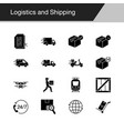logistics and shipping icons design vector image