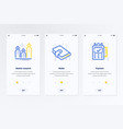 market research wallet payment vertical cards vector image