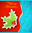 merry christmas paper background vector image