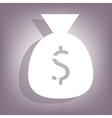 Money bag icon with shadow vector image vector image