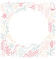 multicolored filigree ornament circle frame sketch vector image