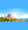 nabawi mosque building religion concept muslim vector image vector image