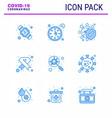 novel coronavirus 2019-ncov 9 blue icon pack sign vector image vector image
